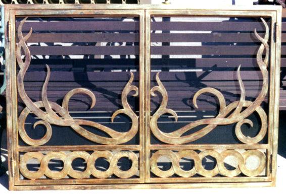 Custom Wrought Iron Fireplace Screen (FP-07)
