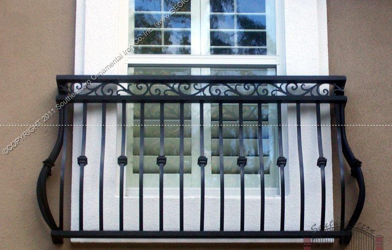 Custom Faux Balcony Railing (#R-135)